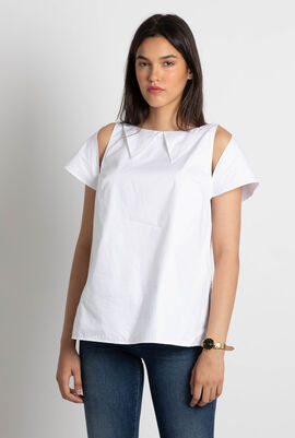Folded Collar Detail Top