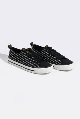 Lace Up Logo Sneakers
