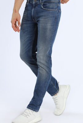 Slim Fit Stretch Denim 5-Pocket Jeans
