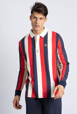 Dustin Stripe Long Sleeves Polo Shirt
