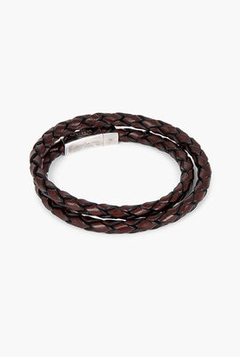 Double Wrap Scoubidou Leather Bracelet