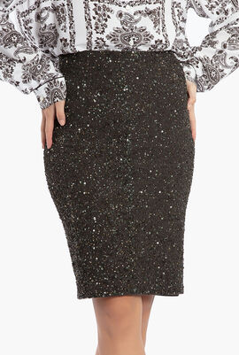 Ramos Embellished Fitted Skirt