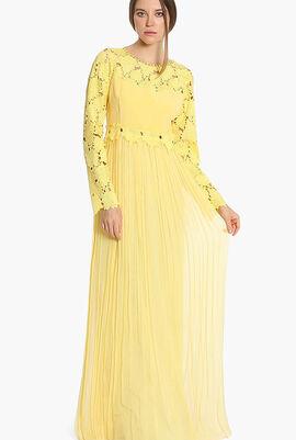 Embroidered Flower Shalvi Gown