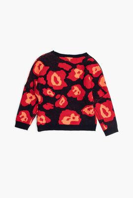 Flower Print Pullover Sweater