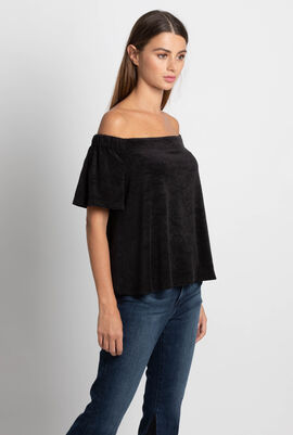 Microterry Off The Shoulder Top