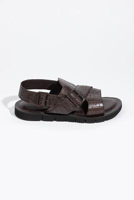 U Glenn C Croc Coffee Sandals