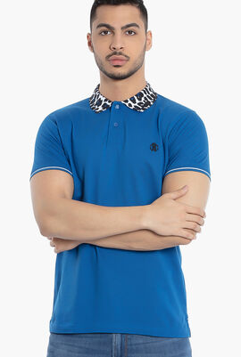 Leopard Collar Polo Shirt