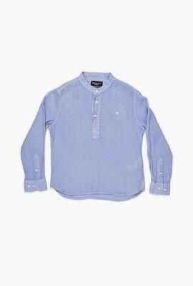 Dye Linen Long Sleeves Shirt
