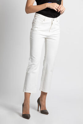 Romania Cropped Flared Jeans