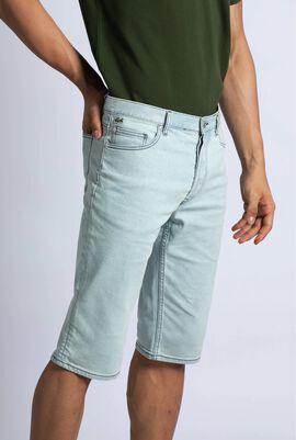 سروال برمودا من الدنيم الباهت بـ5 جيوب