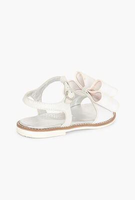 Leather Bow Sandals