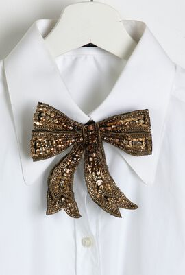 Crystal Embellished Bow Tie
