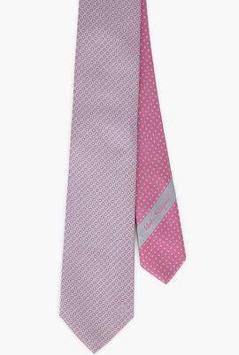 Embroidered Pattern Silk Tie