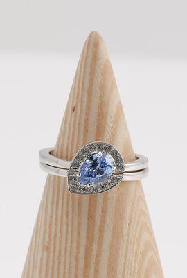 Gallery Pear Light Blue Ring Set, 52mm