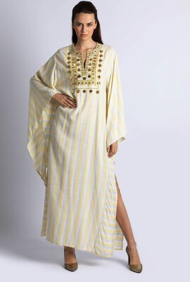 Coin Embroidered Dress