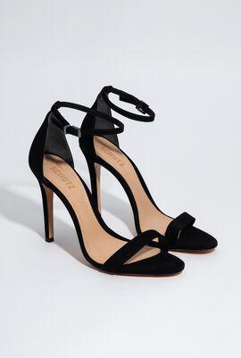 Cadey-Lee Black Stiletto Sandals for Women