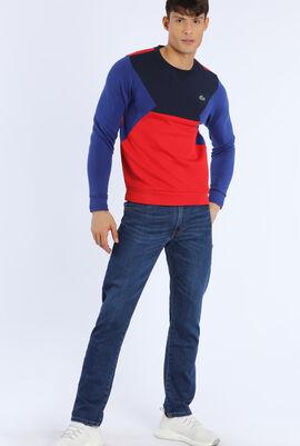 قميص ثقيل من الصوف والقطن للتنس بألوان متباينة