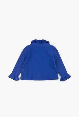 Full Zip Ruffled Jacket