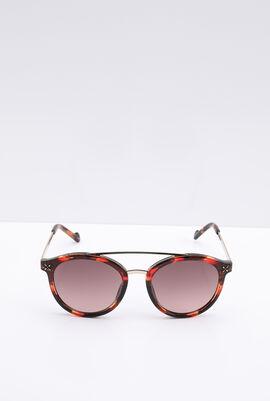 Round Black Women's Sunglasses