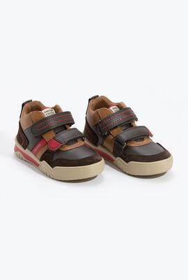 J Perth B.D Dark Brown High-Top Sneakers