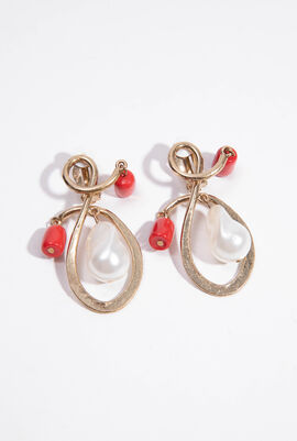 Carol Intricate Spiral Clip Earrings