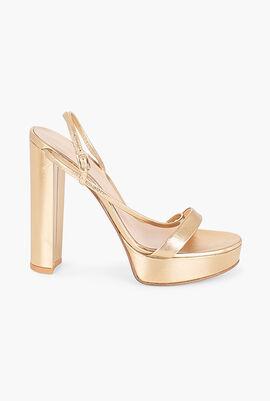 Nappa Silk Platform Sandals
