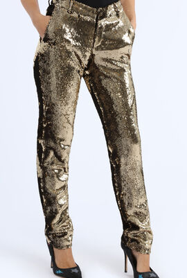 Prune Sequin Trousers