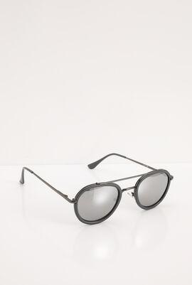 Aviator Gunmetal Mirrored Sunglasses