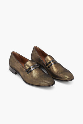 Miles 29 Heather Gold Loafers
