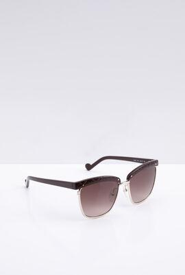 Clubmaster Burgundy Women's Sunglasses