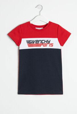 Color Block Logo T-Shirt Dress