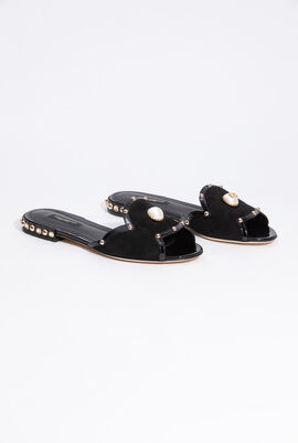 Studded Suede Slip-on