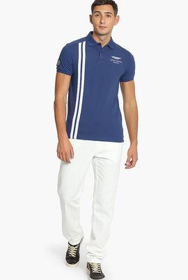 Aston Martin Vertical Stripe Polo Shirt