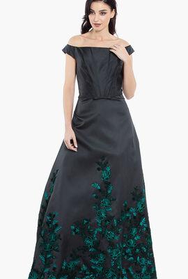 Embellished Off Shoulder Gown