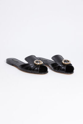 Bianca Stone Embellished Flat Sandals