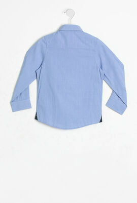 قميص بأكمام طويلة ونقشة مربعات صغيرة
