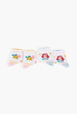 Set of 2 Flowers and Mermaid Cotton Socks