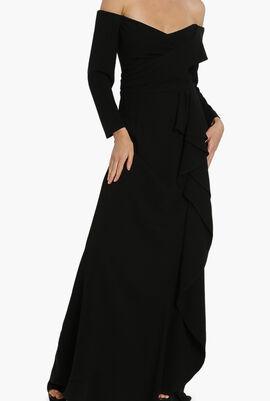 Off_Shoulder Evening Dress