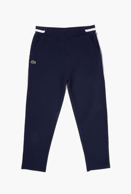 Elasticised Waist Contrast Bands Sweatpants