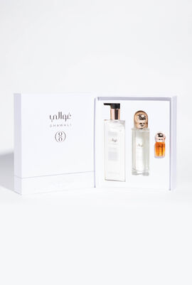 Pearl Musk Set - Moisturizing Body Lotion 300ml, Hair & Body Fragrance Mist 100ml