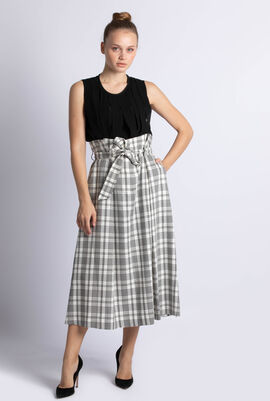Gommoso Checked Print Skirt
