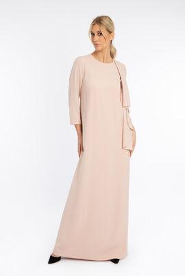 Shoulder Drape Long Dress