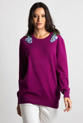 Knitted Embellished Sweater