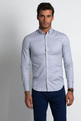 Check Stretch Pinpoint Slim Fit Shirt