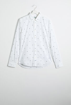 Eye Print Slim Fit Long Sleeve Shirt