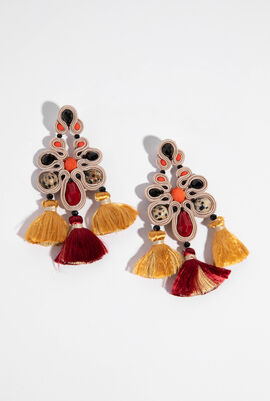 Golden Pheasant Drop Earrings