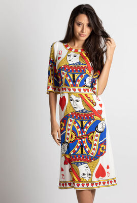 Queen of Heart Print Dress