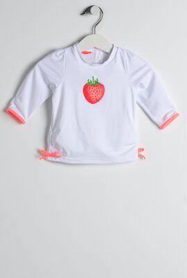 White Wild Strawberries Rash Guard