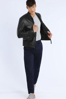 Full Zipped Front Leather Jacket