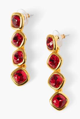 Jet Gemstones Drop Post Earring